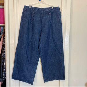 Venezia Jeans Plus Size Wide Flare Leg Denim Jeans